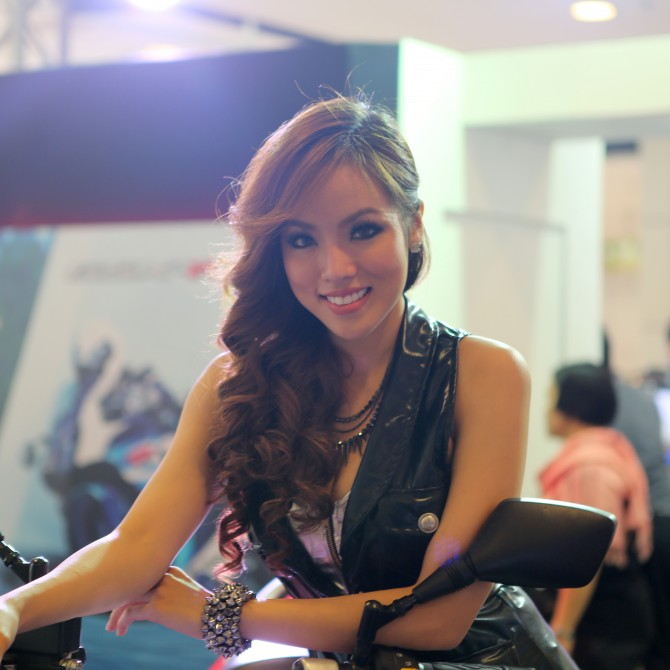 The profession of spokesmodel  or promotional model is high sought after in Thailand (Phot...