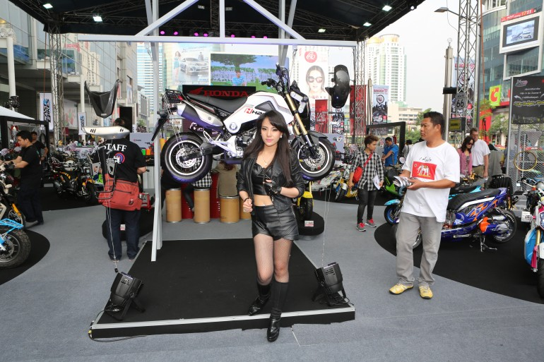 The recently released Honda MSX125 already had a display of accessory and customization op...