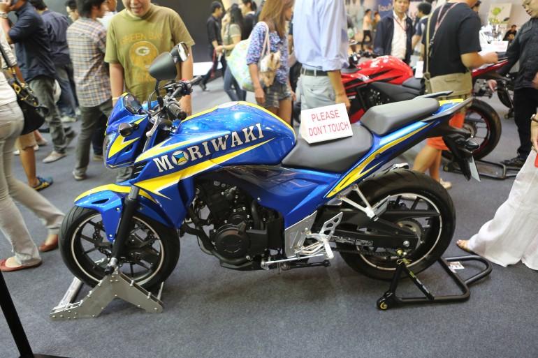 Moriwaki's interpretation of the Honda CB500F (Photo: Husna Namirembe/Gizmag)