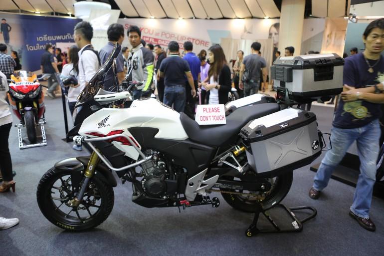 Honda's customized adventure CB500X (Photo: Husna Namirembe/Gizmag)