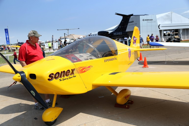 One of the small Sonex planes onsite at Oshkosh 2014 (Photo: Angus MacKenzie/Gizmag.com)