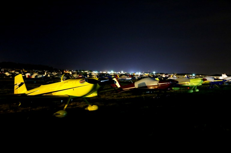 Some of the 1000's of personal flying machines at EAA AirVenture 2014 (Photo: Angus MacKen...
