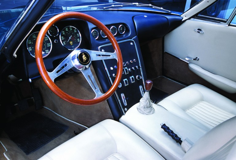 350 GTV interior was ready to go for the Turin Show but since the engine didn't fit they s...