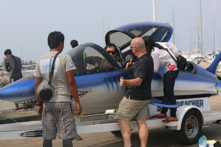 That's me trying to work out how to fly the Seabreacher. Sermsak didn't speak any English,...