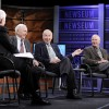 Frank Borman (second from left), James Lovell,  William Anders, and Nick Clooney at the 40...