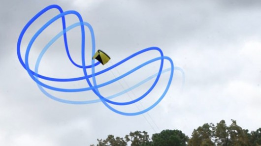 The system developed at Langley flies a kite in a figure-8 pattern to power a generator on...