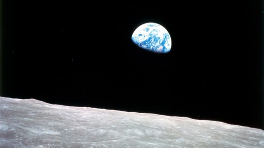 The famous Earthrise photo from Apollo 8 (Image: NASA)