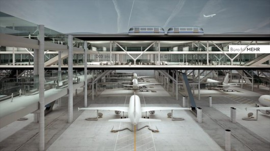 Design studio Büro für MEHR has created a drive through concept for an airport passenger t...