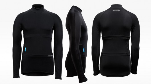 Unlike its original wearable, Hexoskin's new Arctic shirt is designed for use in cold weat...