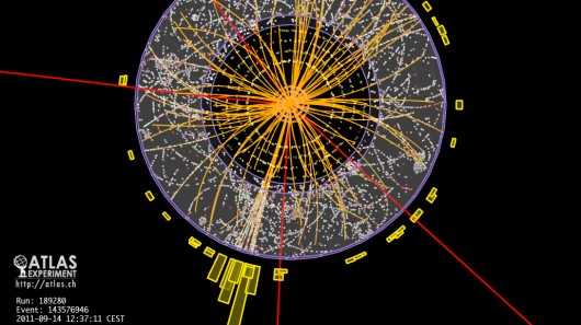 Results of a proton-proton collision with four identified muons, a possible signature of a...