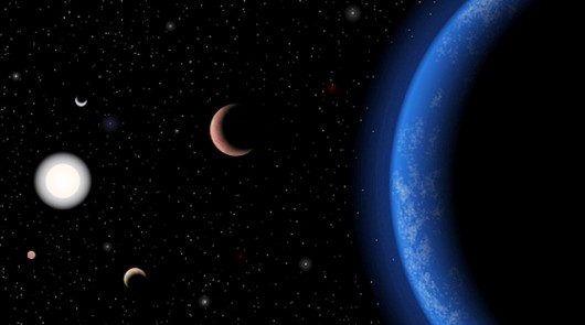 Artist's conception of the five-planet Tau Ceti system (Photo: J. Pinfield/RoPACS/Universi...