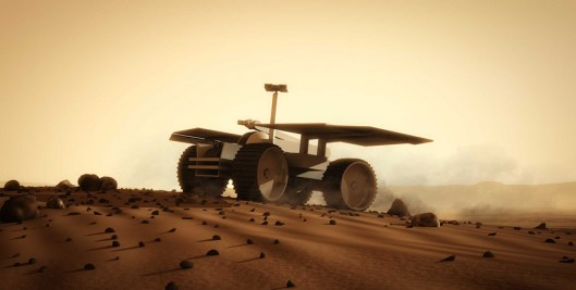 The first function rovers will be to explore the area and select the best site for the set...
